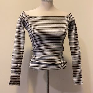 NEW Neutral Off the Shoulder Long Sleeved Top